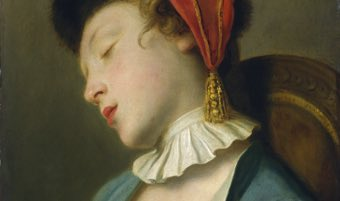 Pietro Rotari, A Sleeping Girl, Italian, 1707 - 1762, 1760/1762, oil on canvas, Samuel H. Kress Collection