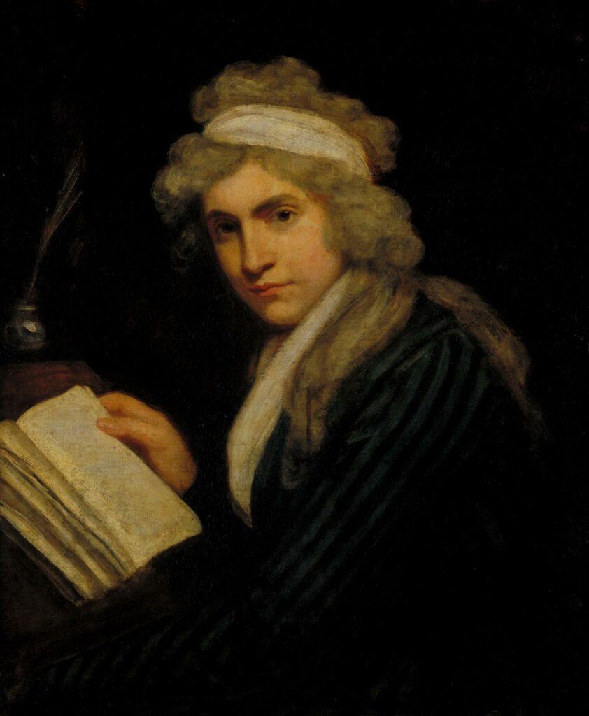 Portret persoon met boek - John Opie, Mary Wollstonecraft, 1790